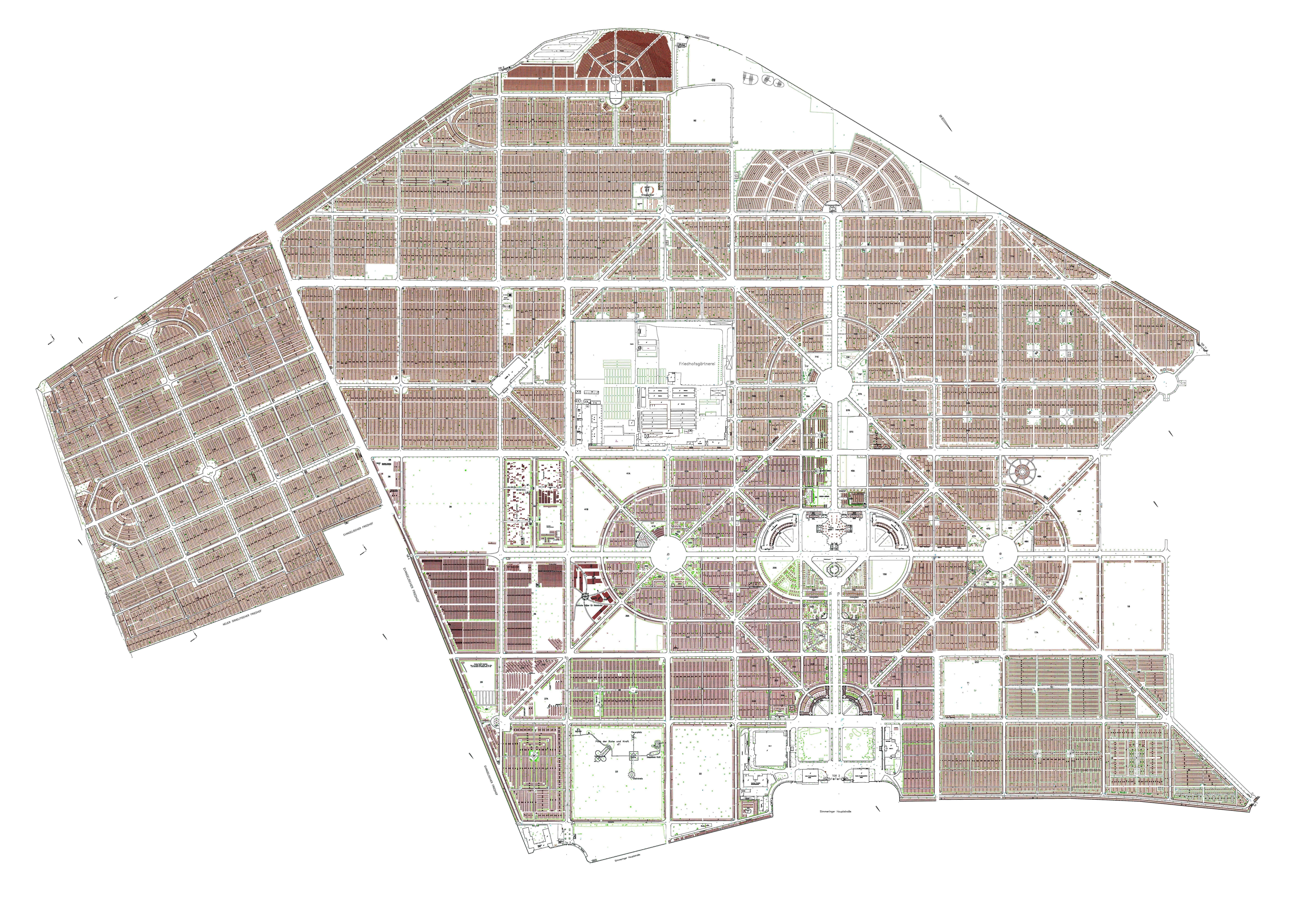 Wien Zentralfriedhof Plan