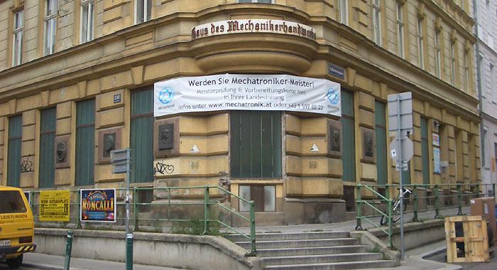 Madersperger Gedenktafel ~ Nähmaschine Wien